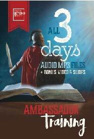 Ambassador Training Recordings   $49 - MP3 Audio (plus shipping)