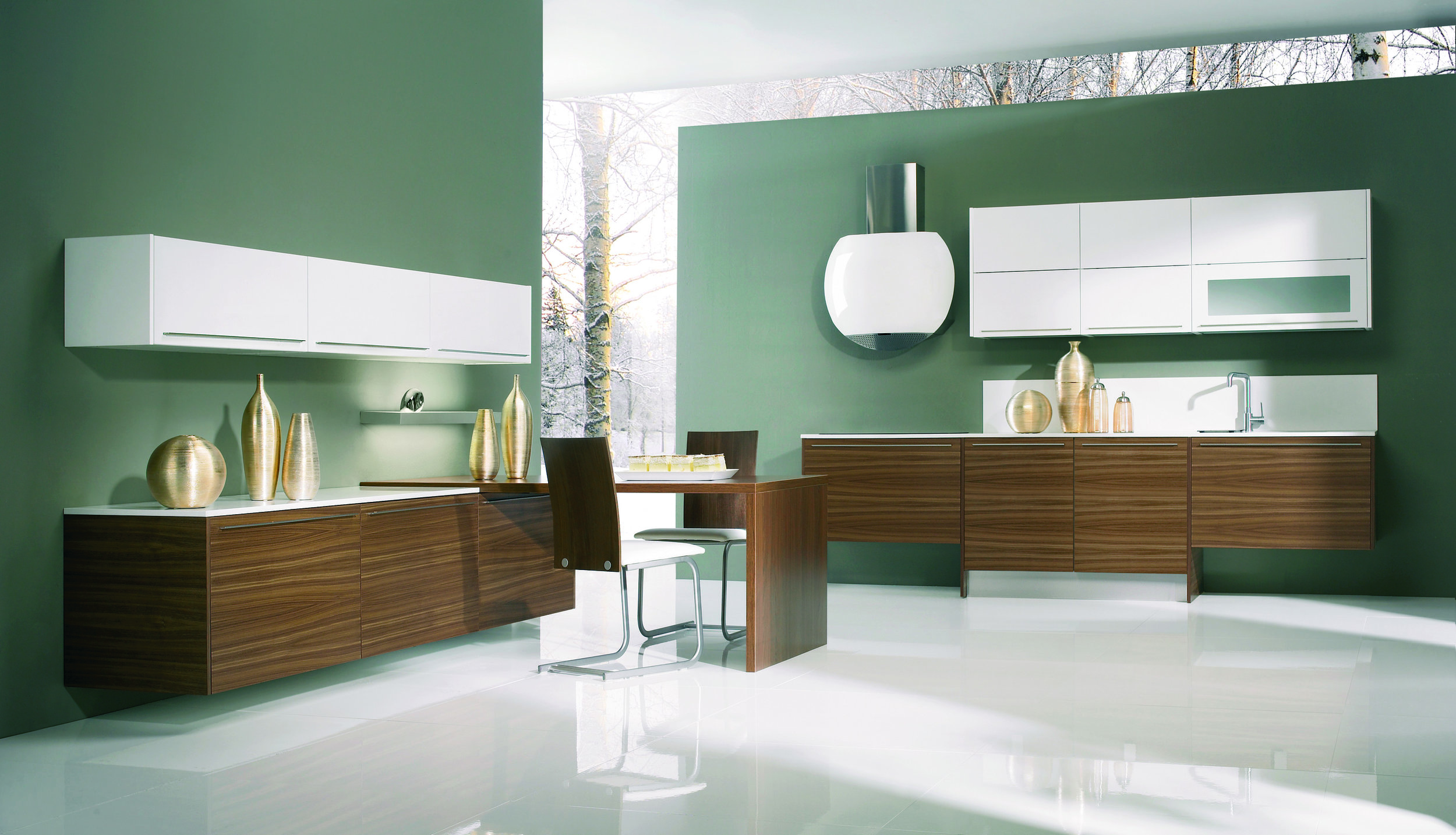 Unique Floating Kitchen Cabinets