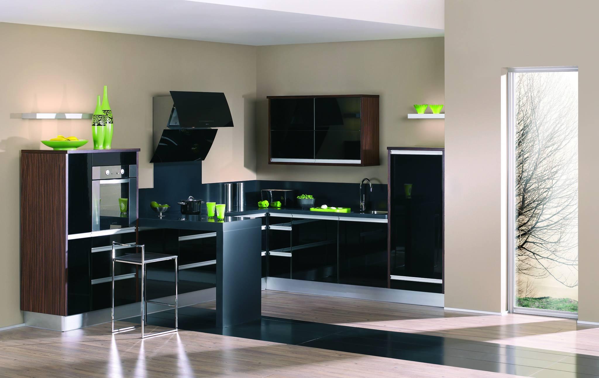 Exotic Black Kitchen