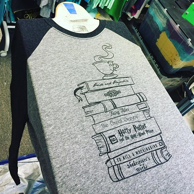 Check out these super sweet hand printed book lovers baseball tees! On sale for a limited time in the Etsy shop! ##prideandprejudice #thegreatgatsby #harrypotter #fairytail #beautyandthebeast #shakespeare #screenprinting #booklover #booklovers #bookstack #etsy #etsyseller #reading #favoritebook #bookworm #cute #outfitoftheday #outfit #shopsmall #baseball #baseballtee #bookclub #nerd #geek #readingnook #gifts #gift #etsysale #cool #bosslady