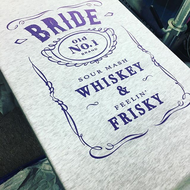 New Bride and Brides Maid designs now available in the Etsy shop! Always made by hand to order! #weddingplanning #weddingdress #weddingparty #honeymoon #bacheloretteparty #bacheloretteweekend #bachelorette #bride #bride #bridesmaid #jackdaniels #whiskey #frisky #loyal #lasvegas #vegas #bridesmaidgift #engagementparty #weddingplanner #screenprinting #shopsmall #etsy #etsyshop #etsyseller #weddingphotography  #theknot #weddinginspiration #weddings #weddingfashion #bridalshower