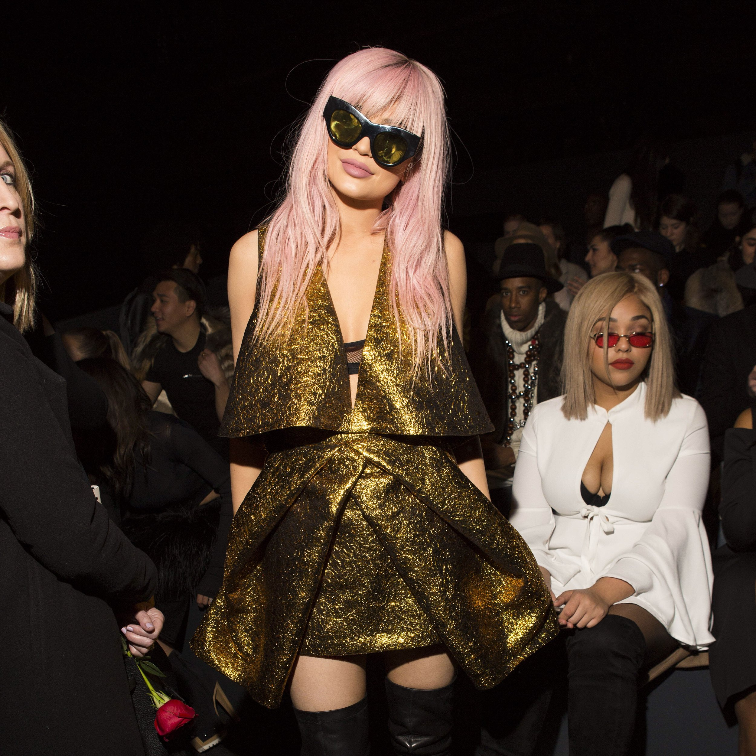 Klyie Jenner Front Row at NYFW