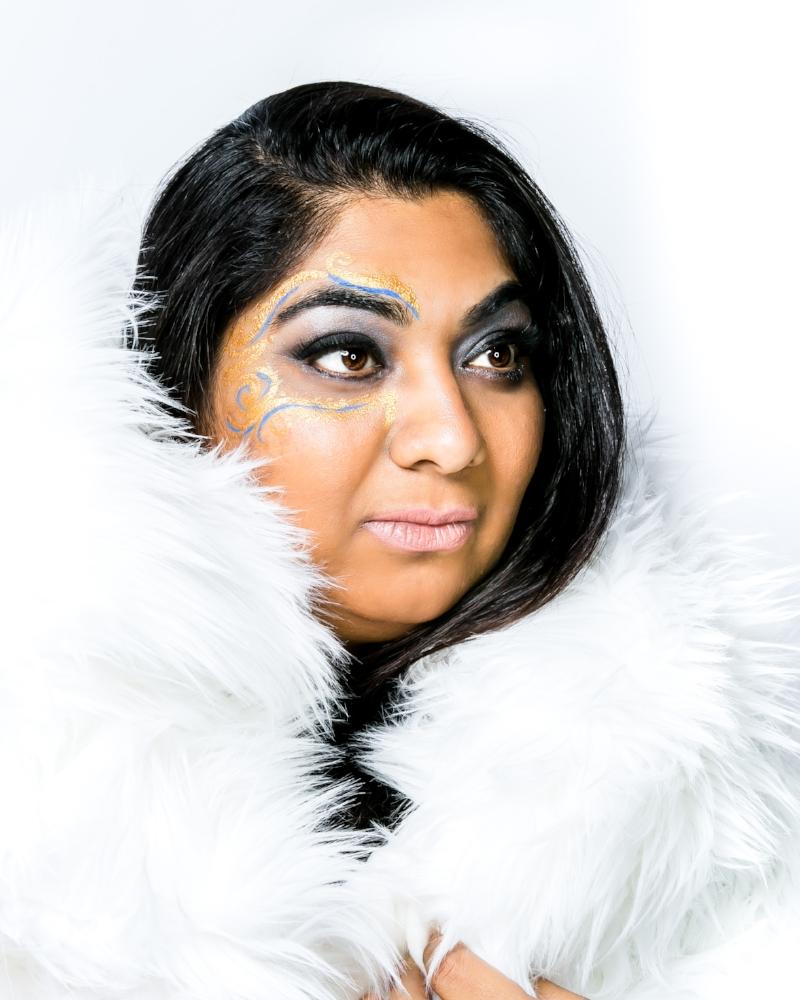 Meghna Kothari, Founder of  Mega Events Enterprises Inc.  Creative Team: Photography/Creative Direction, Lin Marty Photography; MUA, Julia Alexander; Body Paint Artist, Scott Richards