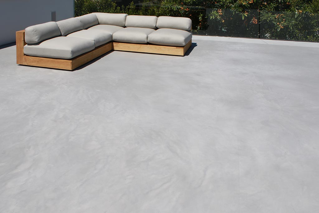 Roof deck was resurfaced and leveled with X-Bond Seamless Stone