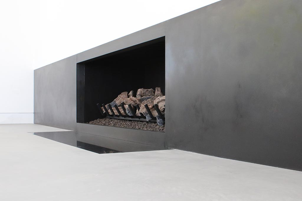Updated fireplace with X-Bond Seamless Stone