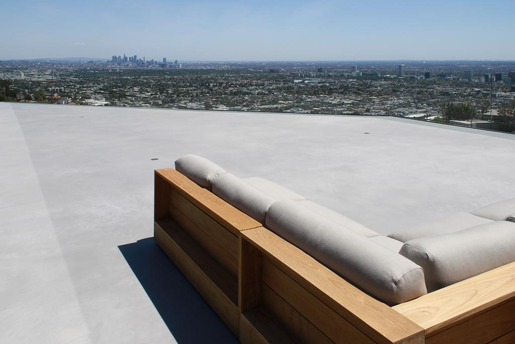 Roof deck after renovation with X-Bond Seamless Stone