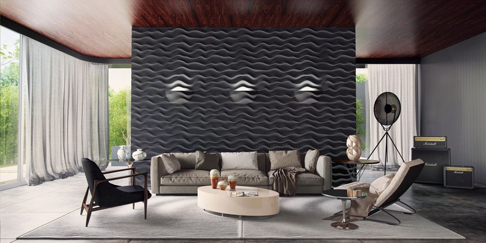 3d wall panel plaster feature wall