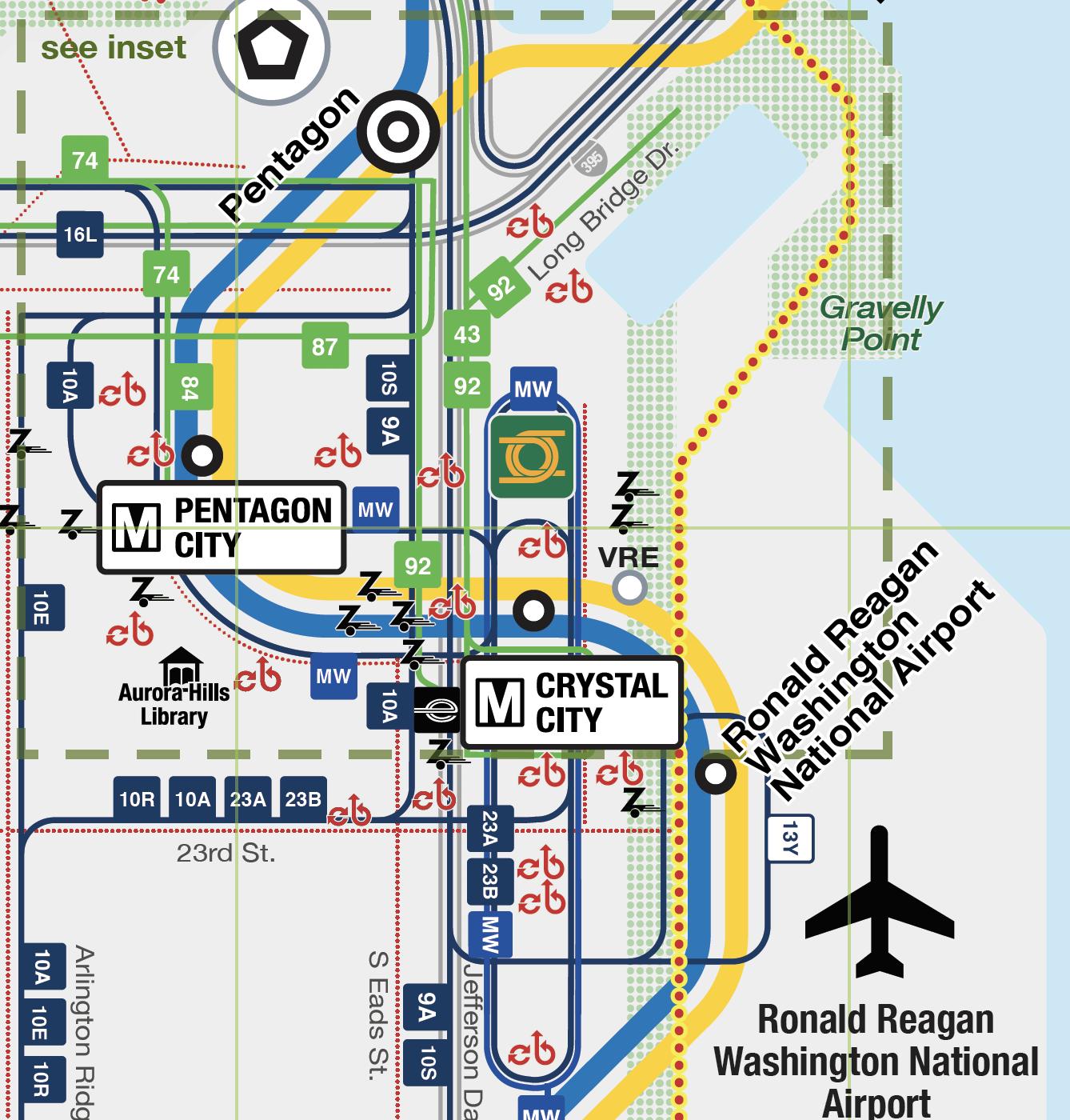 Arlington's Car Free Diet Map