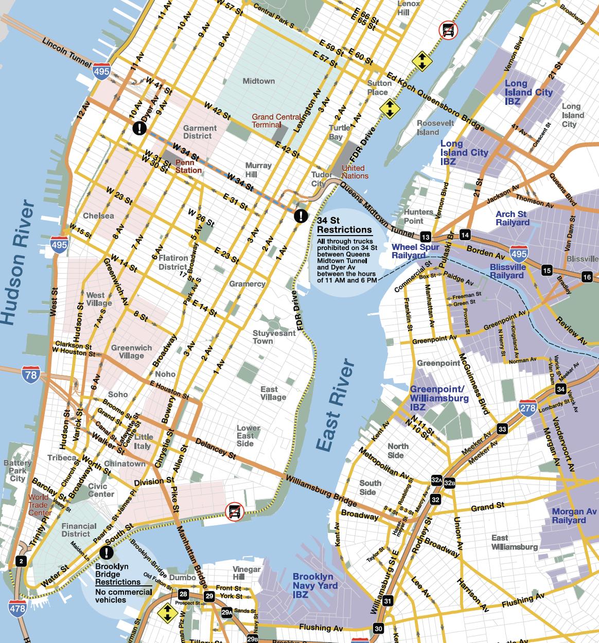 Vision Zero NYCDOT Truck Map