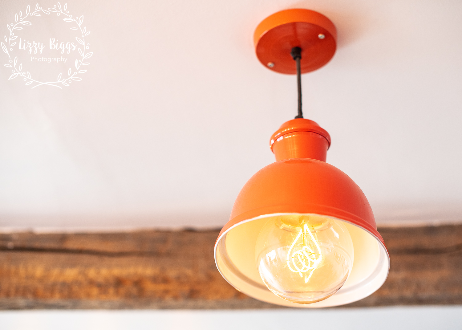 Interesting modern lighting selections - much in keeping with coffee-shop trends