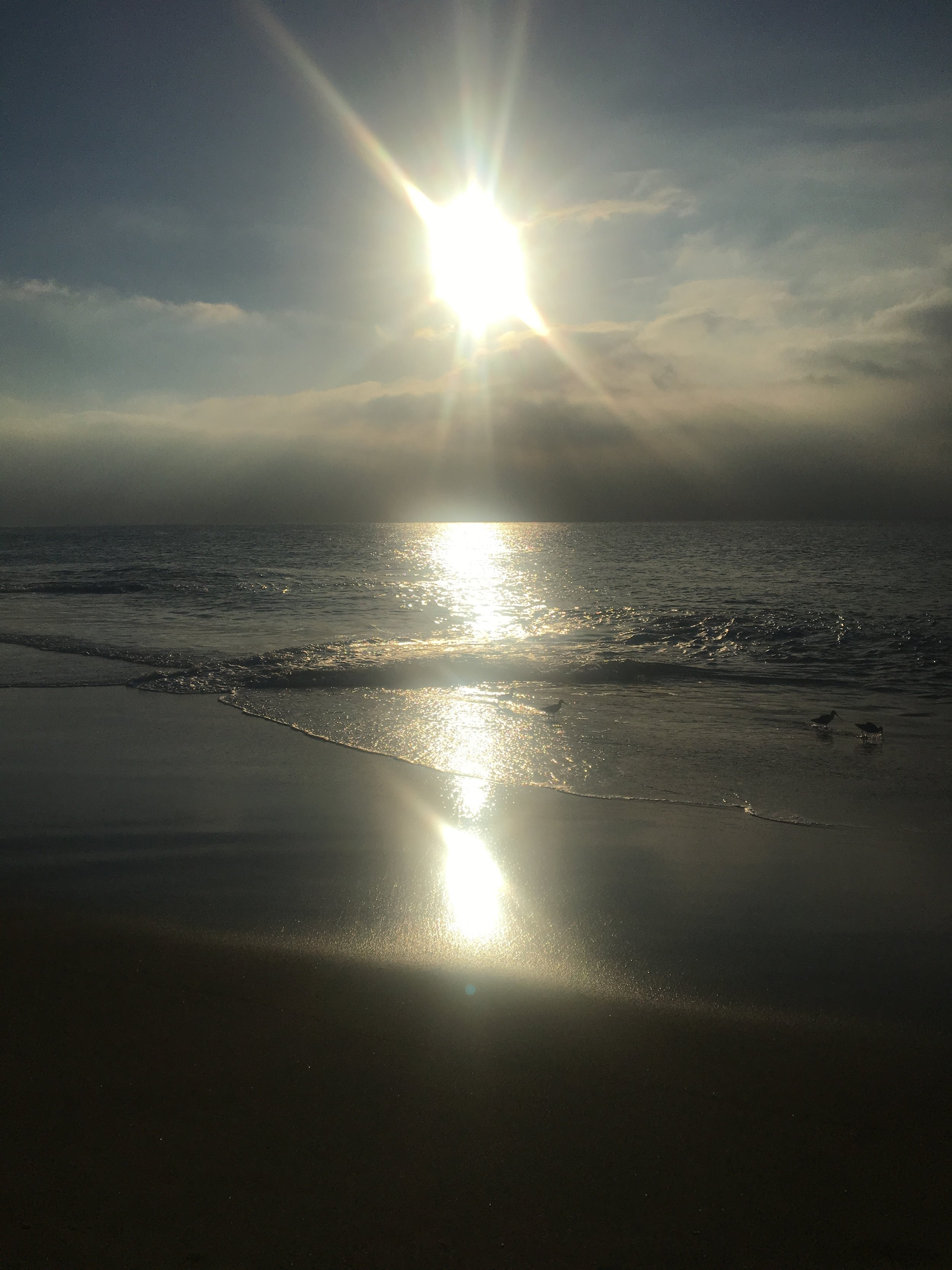 This was my view on the morning before the Winter Solstice in Malibu. Darkness and light.