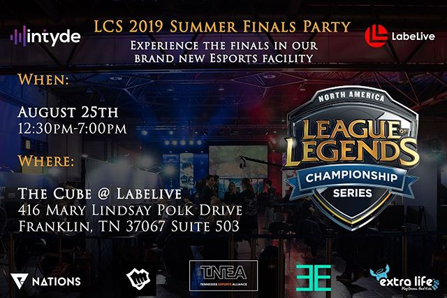 Watch the finals with us on an epic 20' LED video wall! Get your tickets before they're gone!  #linkinbio #esports #gaming #leagueoflegends #rocketleague