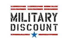 RETIRED AND ACTIVE DUTY    10% OFF