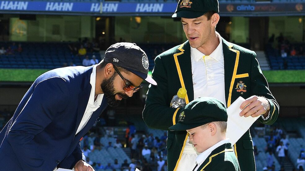 Tim Paine, Archie with Virat Kohli and Tim Paine
