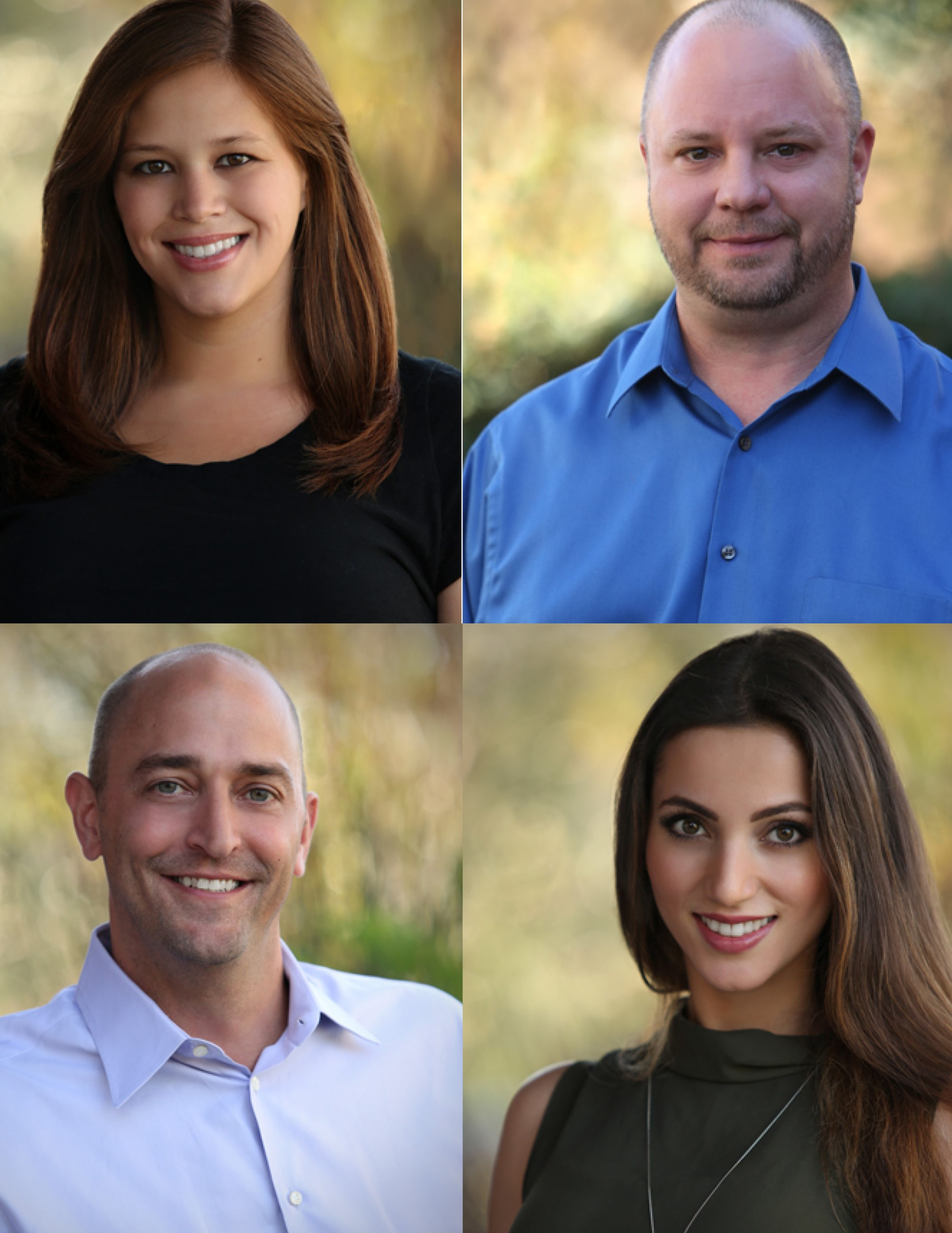 Pictured Above:  Erica (Top Left), Kris (Top Right), Patrick (Bottom Left), Lida (Bottom Right)