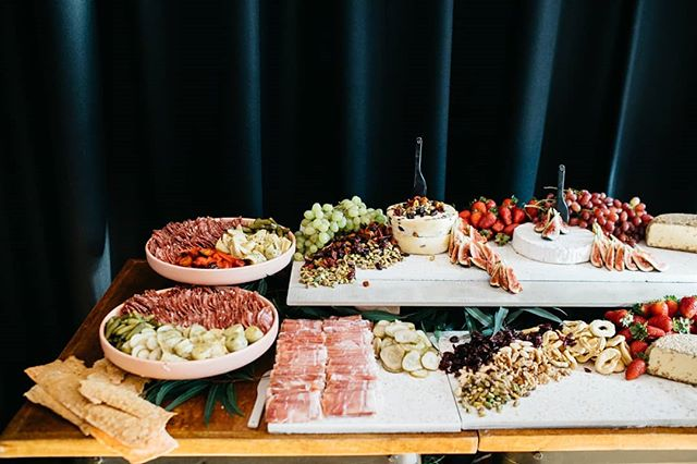 We truly believe that you 'eat with your eyes' so just leaving this delicious feast here for you to devour 😋 #yourewelcome  Styled grazing for the gorgeous newlyweds Casey and George.  Styling and servingware // @curated_events  Delicious house made cheeses and cured meats // @thecraftandco Venue // @thecraftandco  Photo // @timothymarriage . . . . . . . . .  #caseysweddingfeatgeorge #forthosewhoappreciatethefinerthingsinlife #modernbride #modernwedding #weddingstyle #wedding #receptionstyling #thegrazingtablebycuratedevents #grazingtable #grazingtablemelbourne #curatedevents #allofthegoodstuff #shareplatter #cheeseplatter #catering #cheeseboard #cheese #foodstyling #food #eventstylingmelbourne #eventstyling #platter #graze #charcuterie  #stylingbycuratedevents #thecraftandco #terrazzo