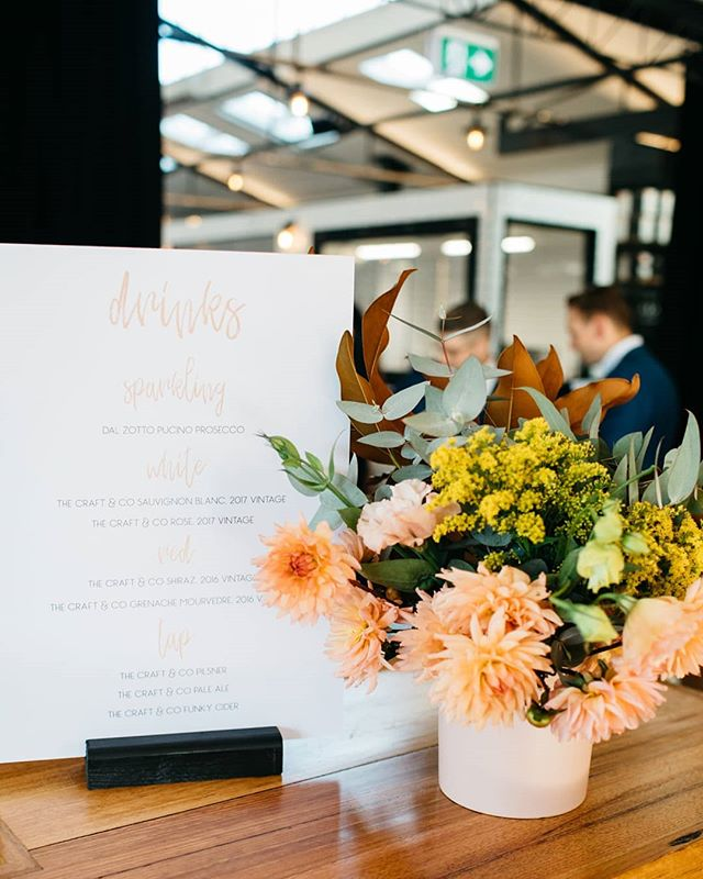 Sitting pretty, some details from a perfect day.  Signage, Florals // @curated_events  Venue // @thecraftandco  Photo // @timothymarriage . . . . . . . . . . . #caseysweddingfeatgeorge #modernbride #modernwedding #ceremony #wedding #receptionstyling #weddingstyle #signage #peachy #floralstyling #stylingbycuratedevents #thecraftandco #curatedevents