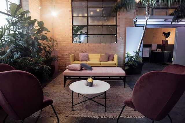 Lounge set up for the launch of our new events space @smalltalkeventspace 👄  Styling // @curated_events  Furniture // @danneventhire  Greenery // @greeneventmelbourne  Venue // @smalltalkeventspace  Photo // @freethebirdweddings . . . . . . . . . #curatedevents #palms #eventspace #melbourneevents #venue #melbourne #warehousevenue #stylingbycuratedevents #danneventhire #modernwedding #weddingstyle #wedding #receptionstyling #modernbride #smalltalkevents