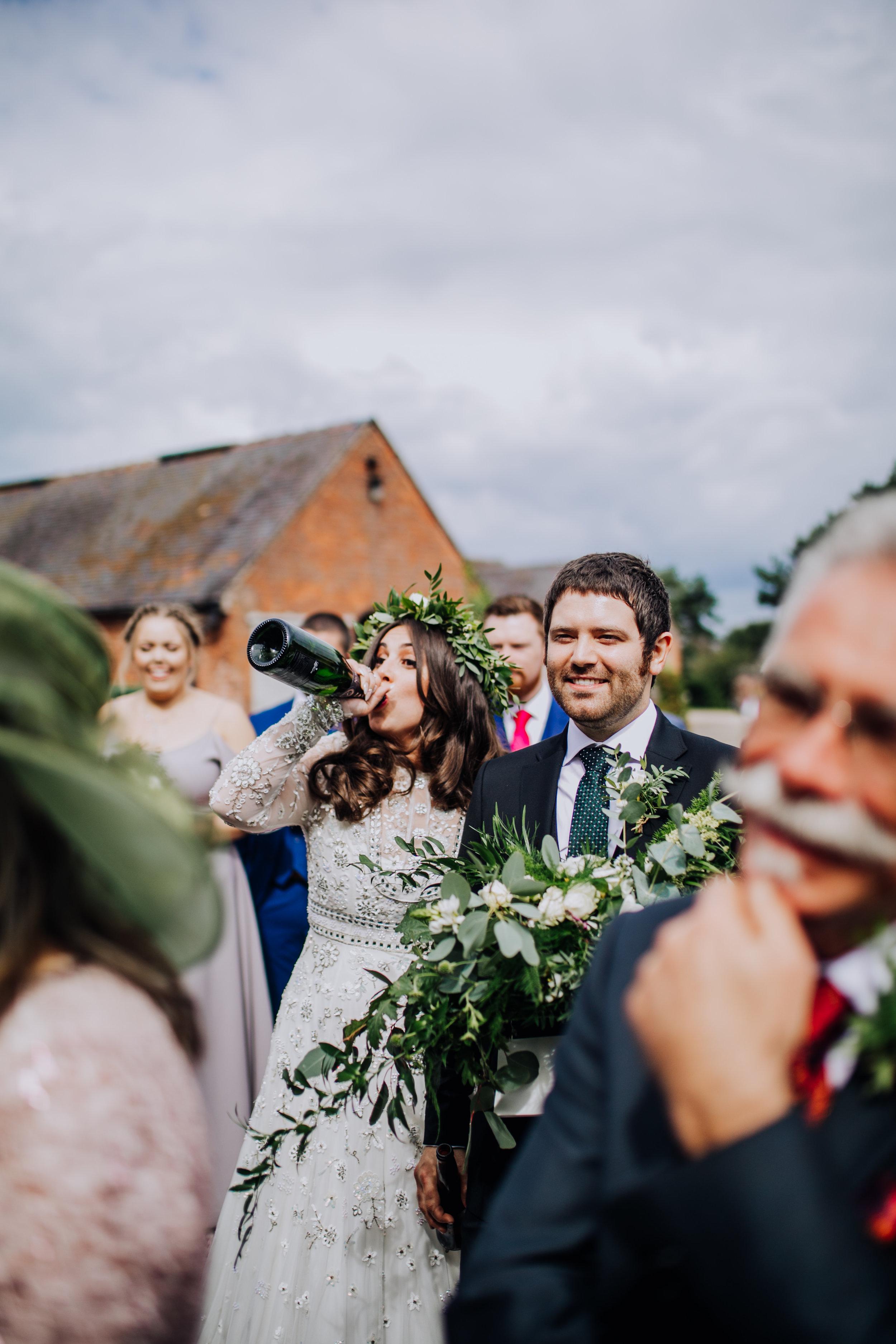 A festival barn wedding at Pimhill barns - Shropshire