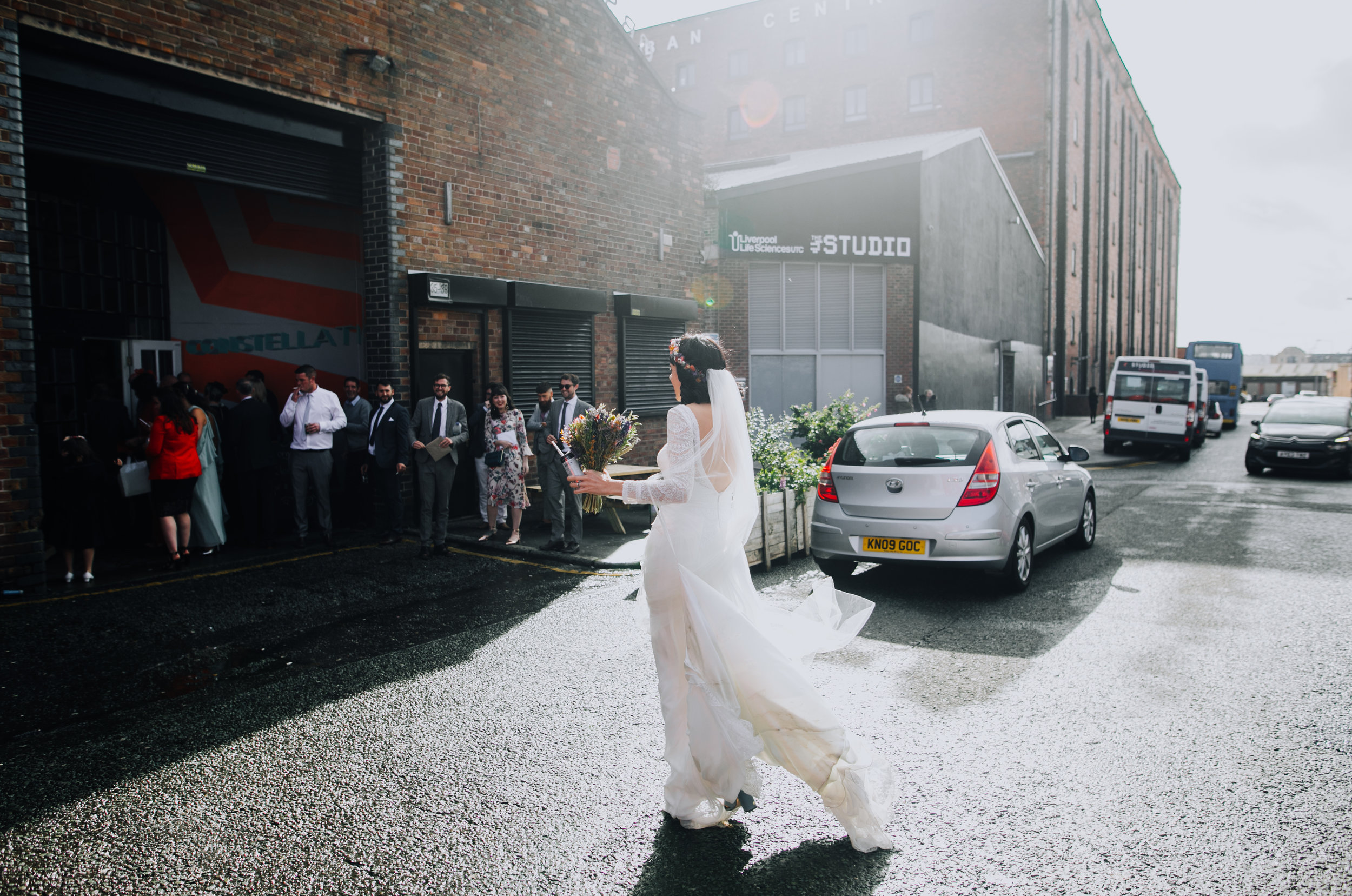 A festival burning man themed wedding at Constellations liverpool