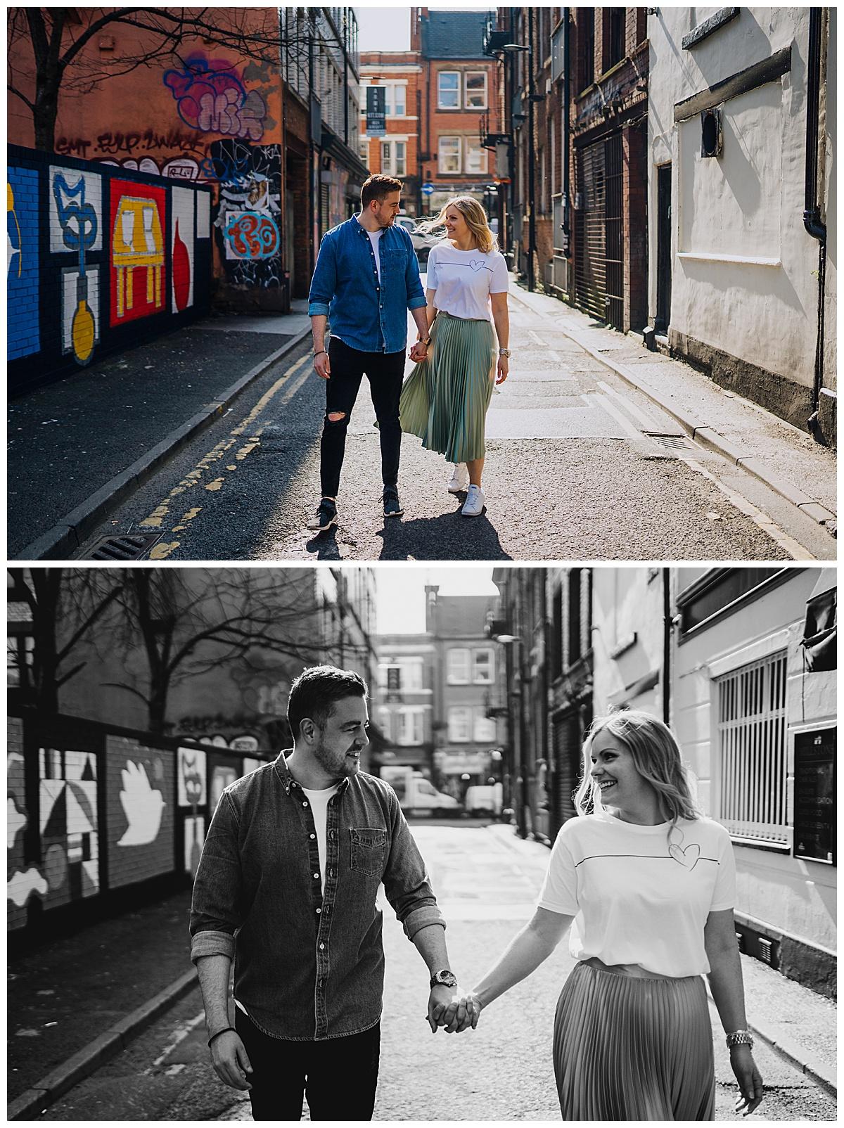 An alternative pre-wedding session in Manchester - Northern Quarter