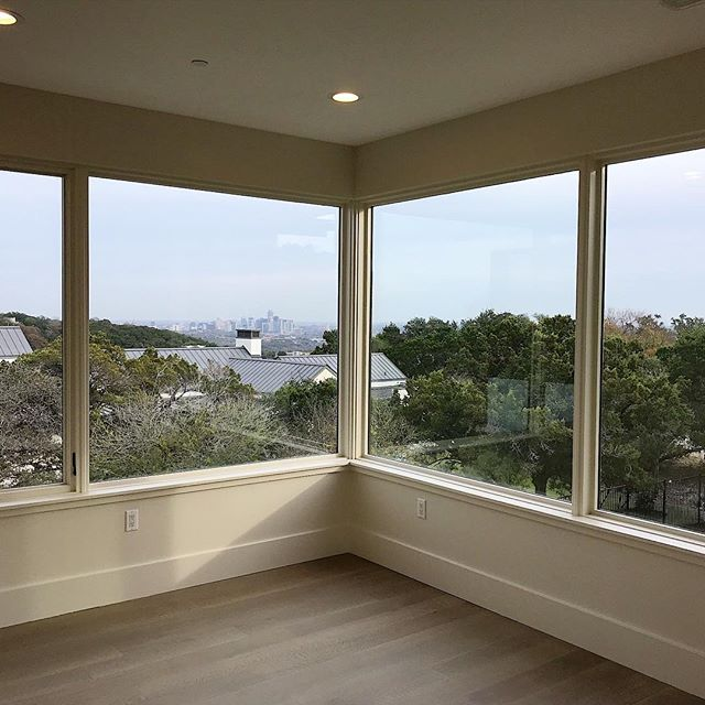 Beginning tomorrow this view will be appreciated EVERY day! Congrats to our clients on move-in day! . . . #moveinday #beautifulhomes #beautifulhouse #newhouse #newhome #interiors #interiordesign #austininteriordesigner #architecture #pursuepretty #views #austin #austintx