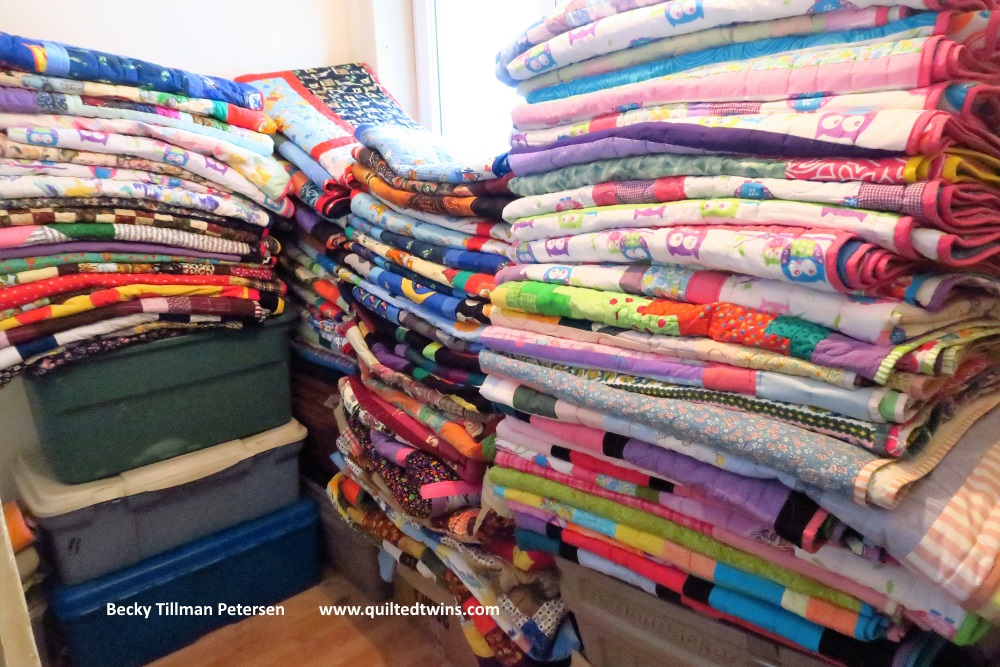 This is my total after the newest 10 quilts are added. There are 92 quilts here.
