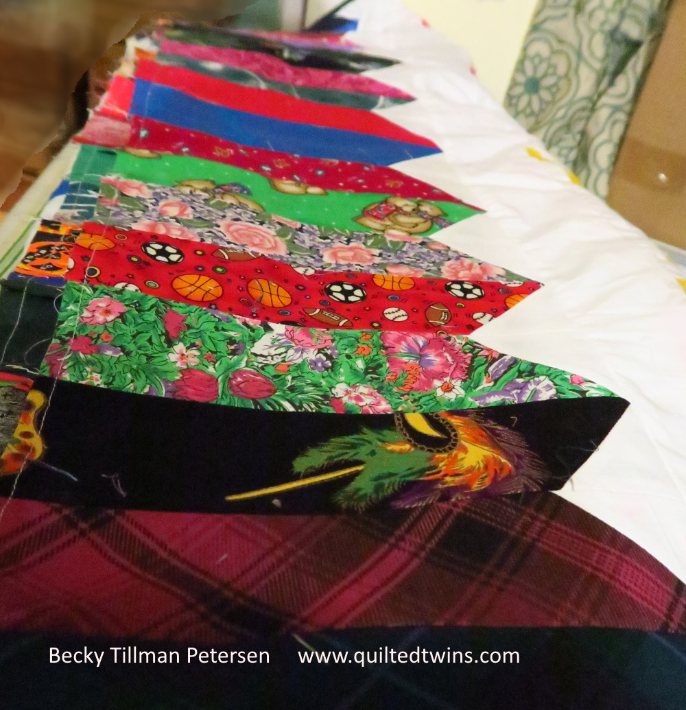 I'm just kidding...this is part of the border, not the middle of the quilt!