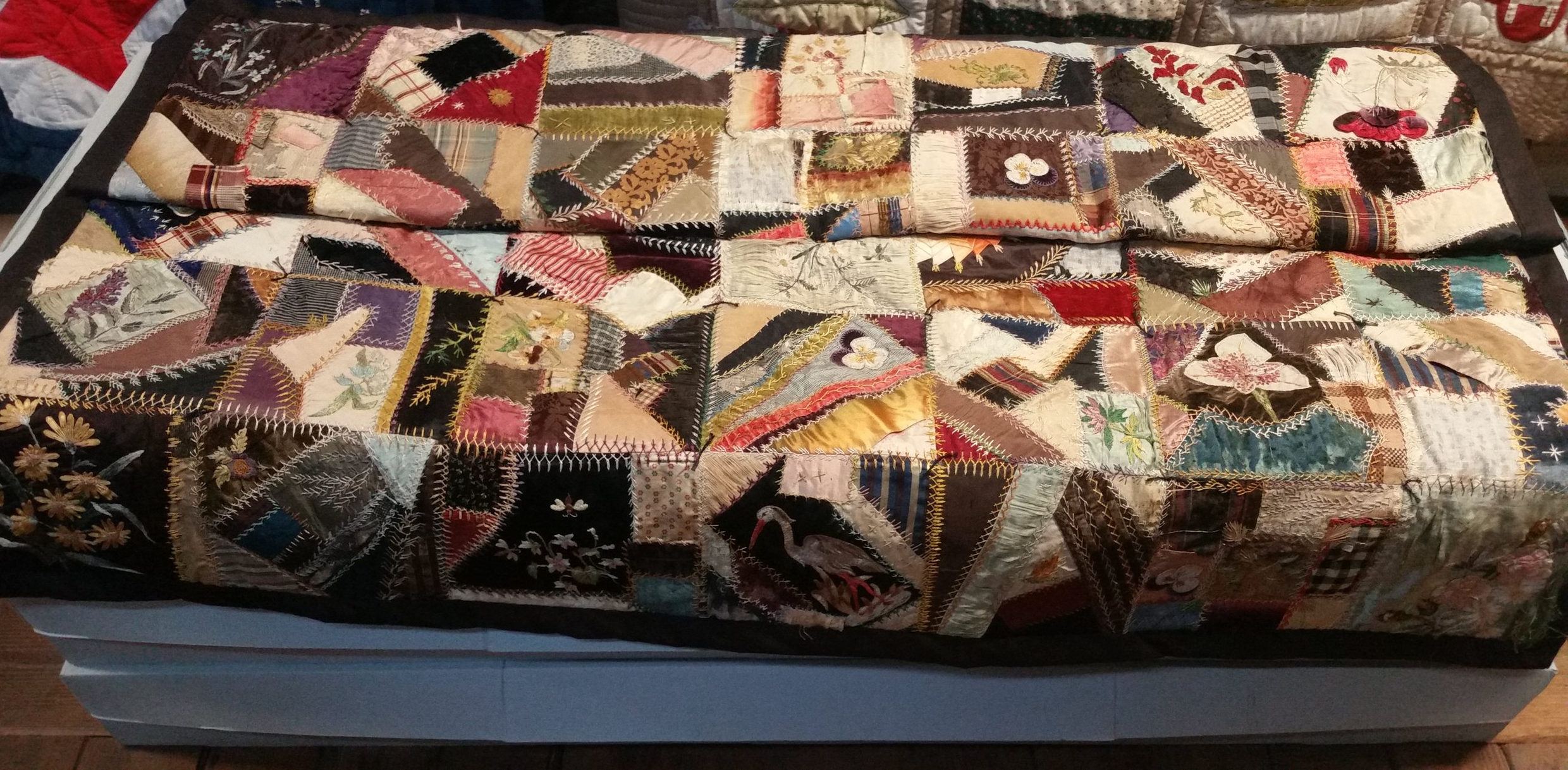 This was an extremely fancy appliqued quilt.