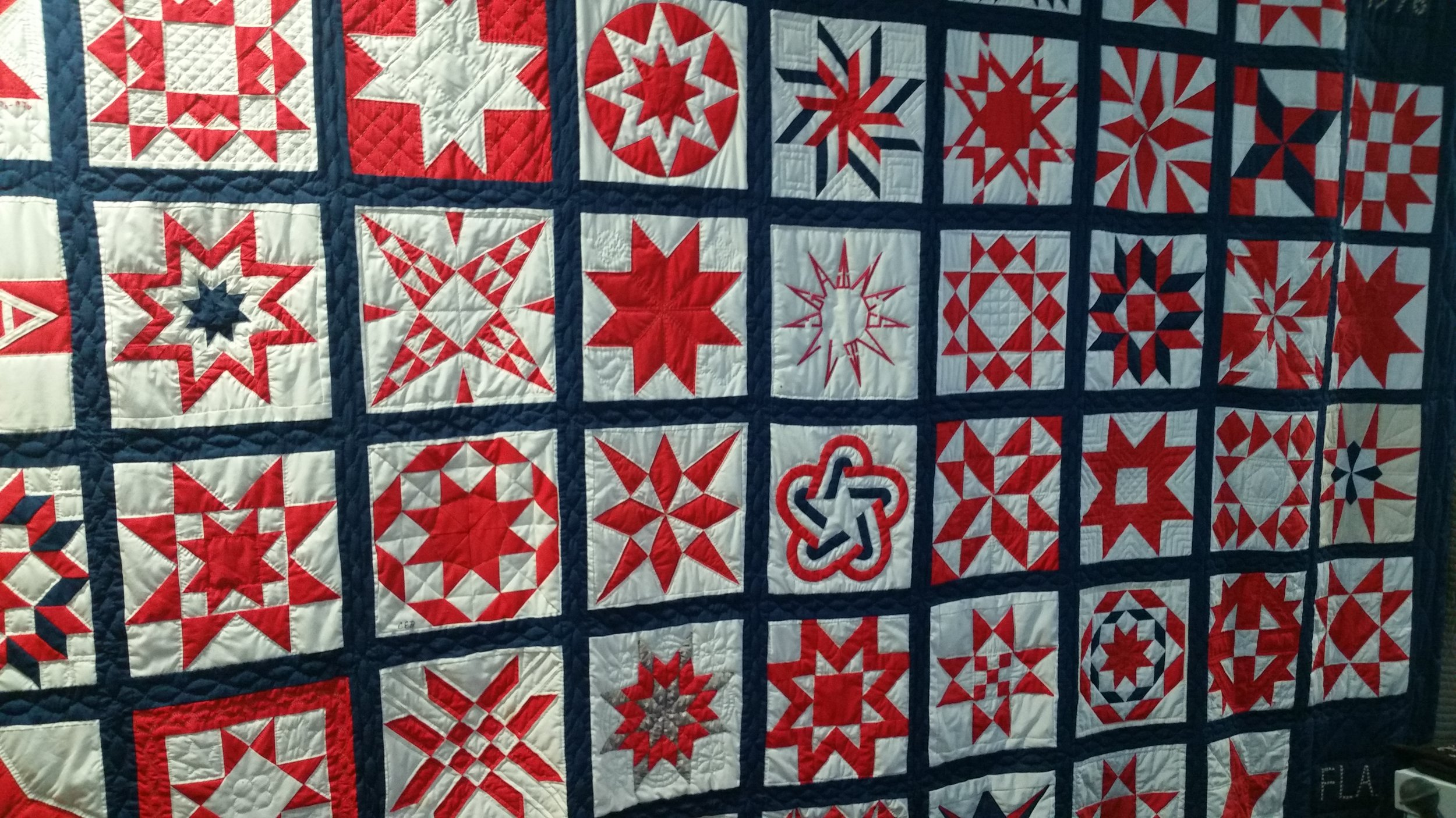 This one was definitely also a more recent quilt.