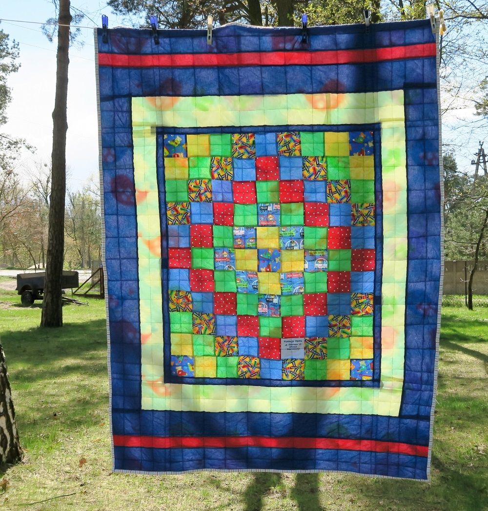 35 Center of top donated by a friend in AZ. I added borders to make it a European twin size.