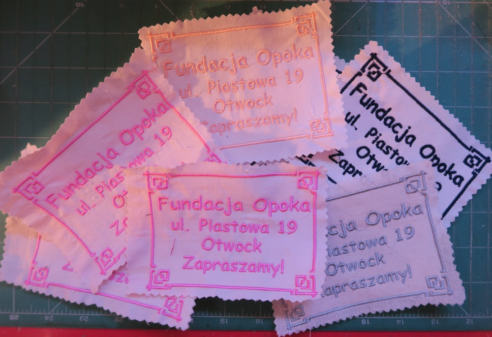 I make these labels with my embroidery machine and sew one to each of the quilts I finish.