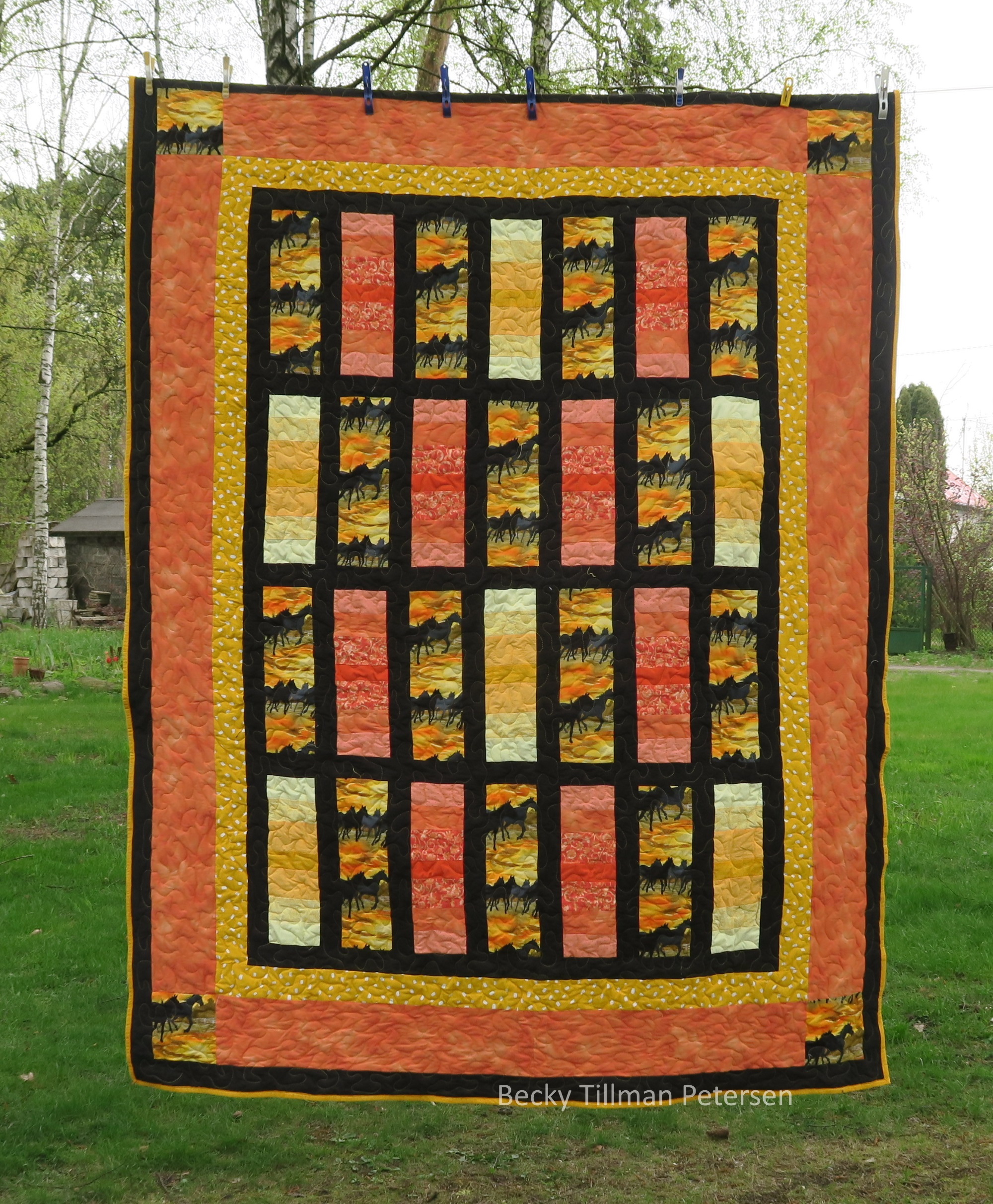 Number 2 - more orange bargello sections than yellow