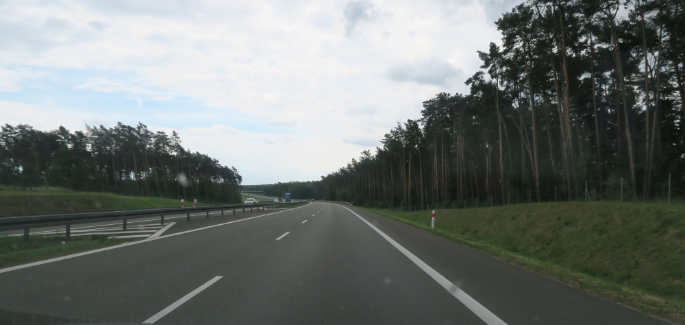 The freeway is pretty new - thought you'd like to see it and the trees. I love the fact that we have a lot of trees here in Poland.