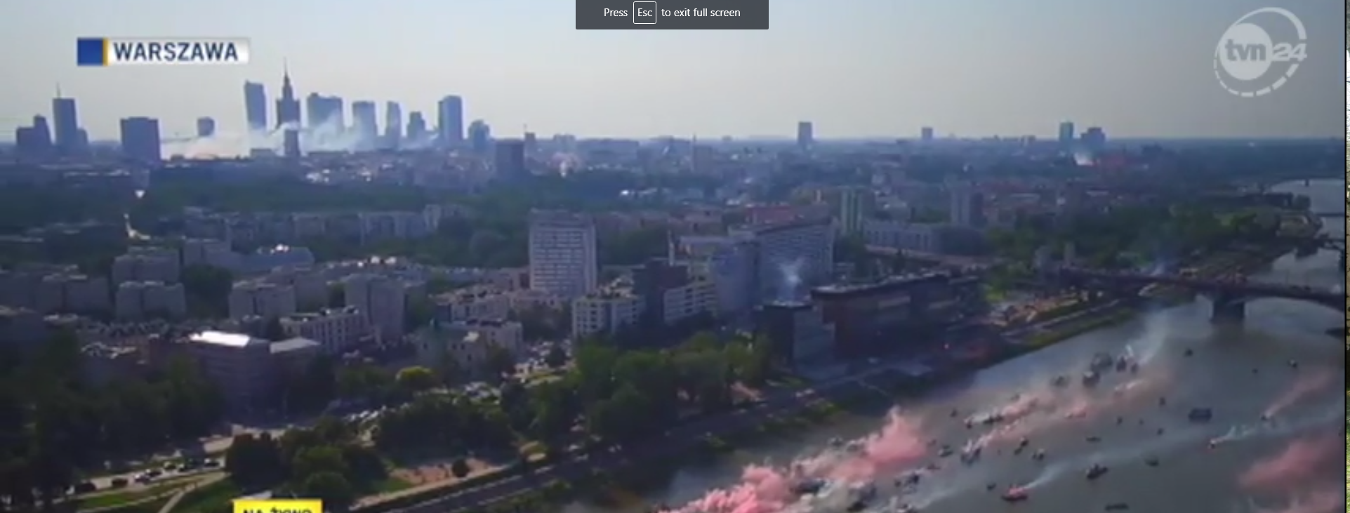 They set off flares and have a siren going for a minute at 5 pm on August 1 every year in Warsaw. Even though we are 3 miles from Warsaw, we could hear the sirens as well.