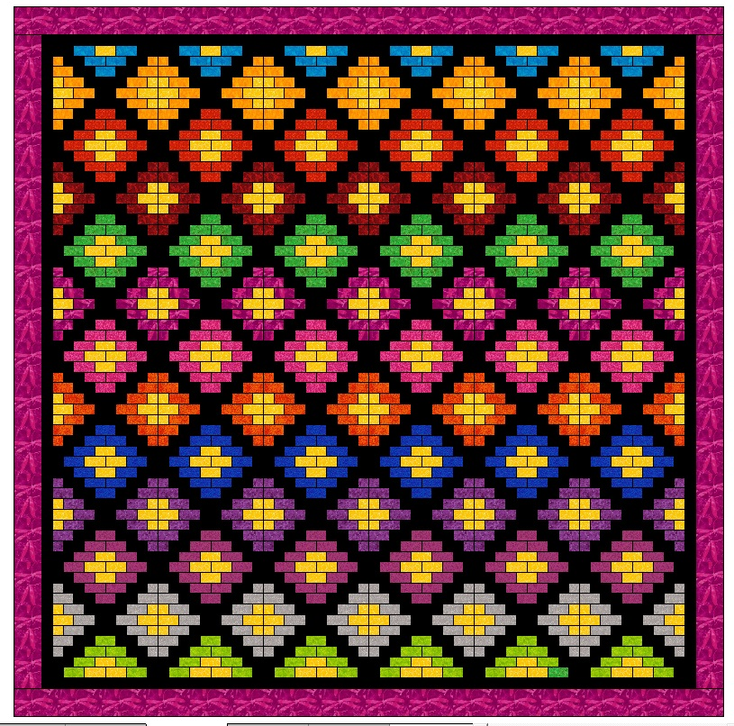 If you wanted to make this last variation, obviously you'd have to be careful about color placement. I did not include this variation in the pattern.