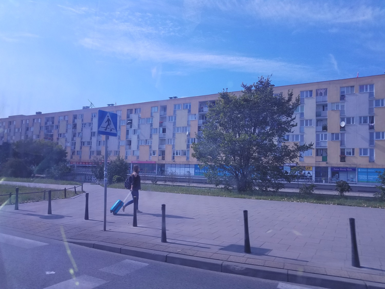 Kijowska - the longest building in Warsaw - 500 meters long. It's an apartment building