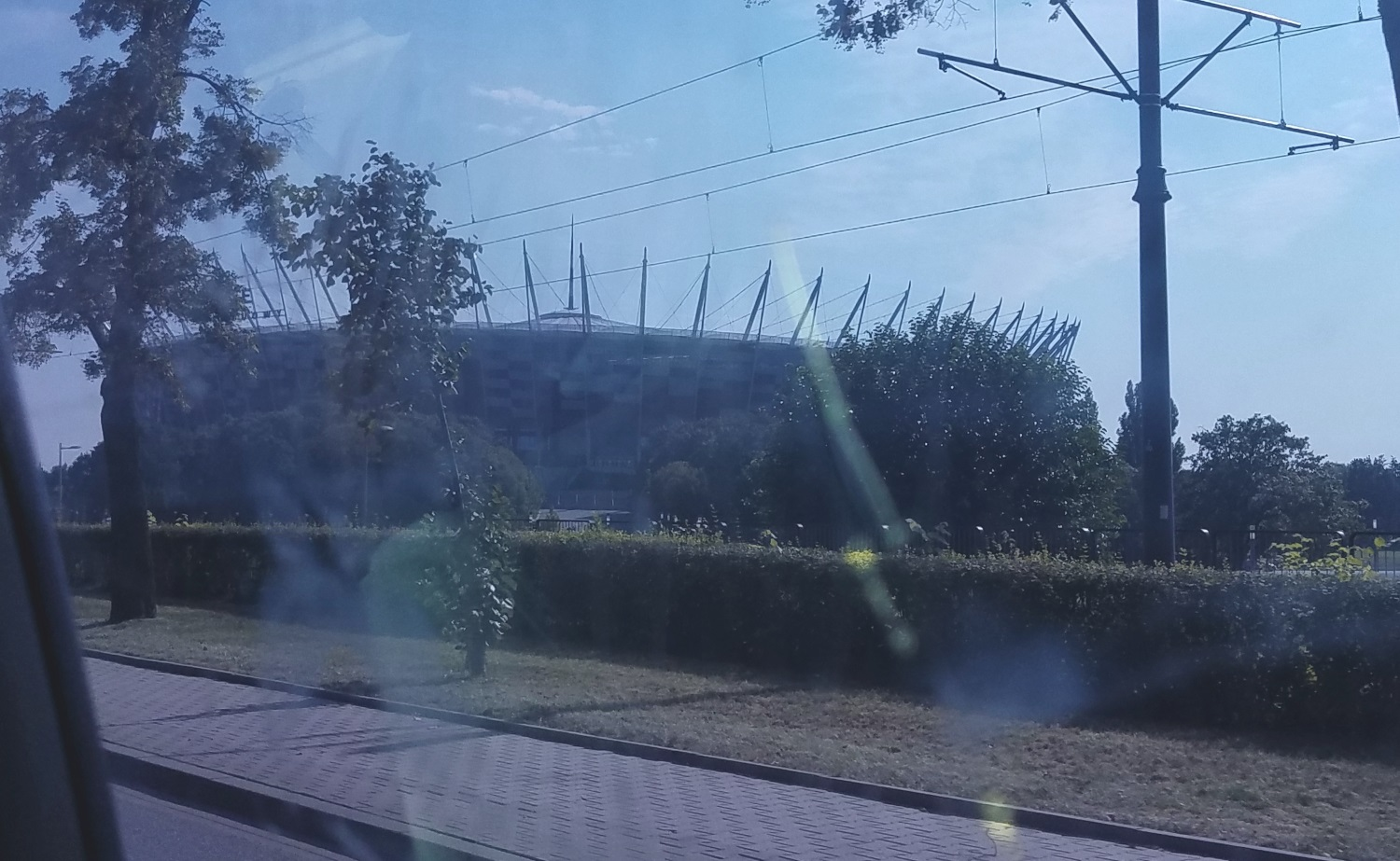 The National Stadium - mostly for soccer games. Finished in time for the 2012 EuroCup here in Warsaw.