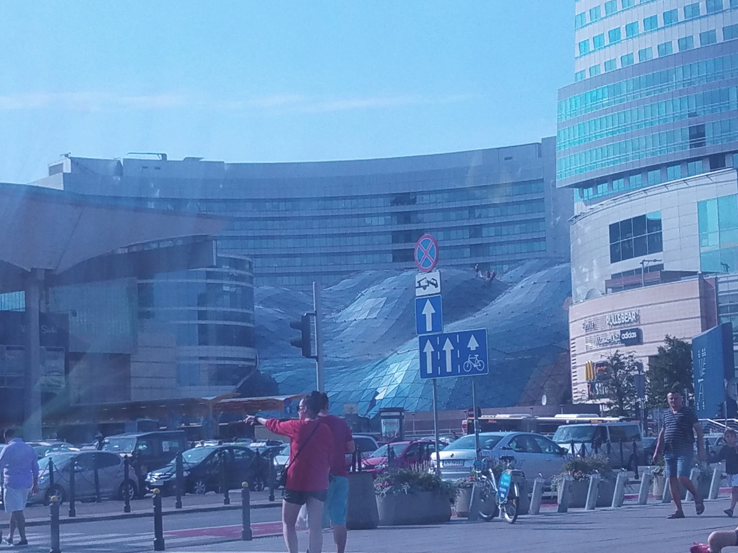 That curved roof is a mall - Zloty Tarasa - Golden Terrace