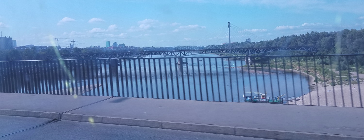 The mighty Vistula River that divides Warsaw into the east and west sides. We live on the east side.