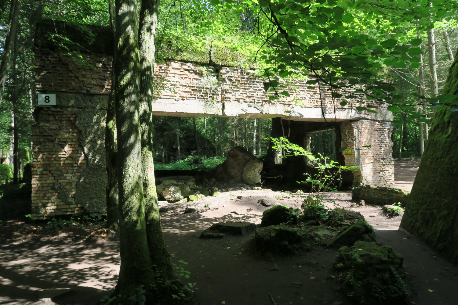 The Wolf's Lair - Hitler's headquarters and planning area for his leaders here in Poland. - one of the buildings there - not his main bunker.