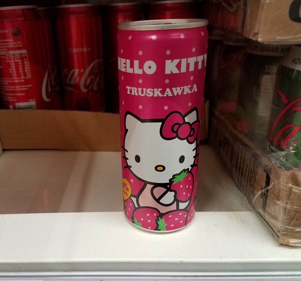 Have you ever seen Hello Kitty strawberry soda?