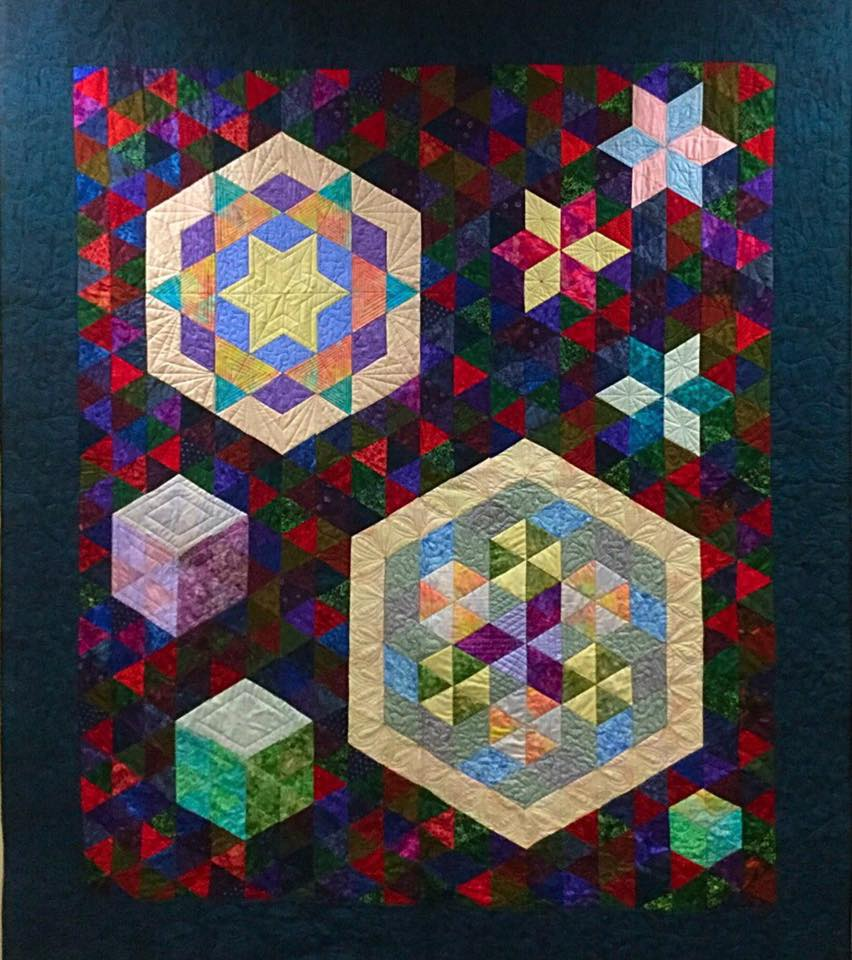 Colleen Froats has a bunch of guys in her family who love geometrics. They fought over who would get this one!