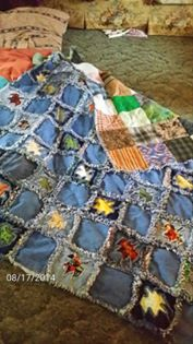 Katie Baker made this fun quilt for her grandson!