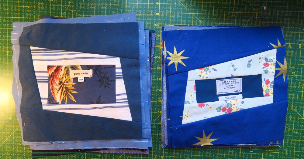 I made these so that the seams were going in opposite directions from the lights.