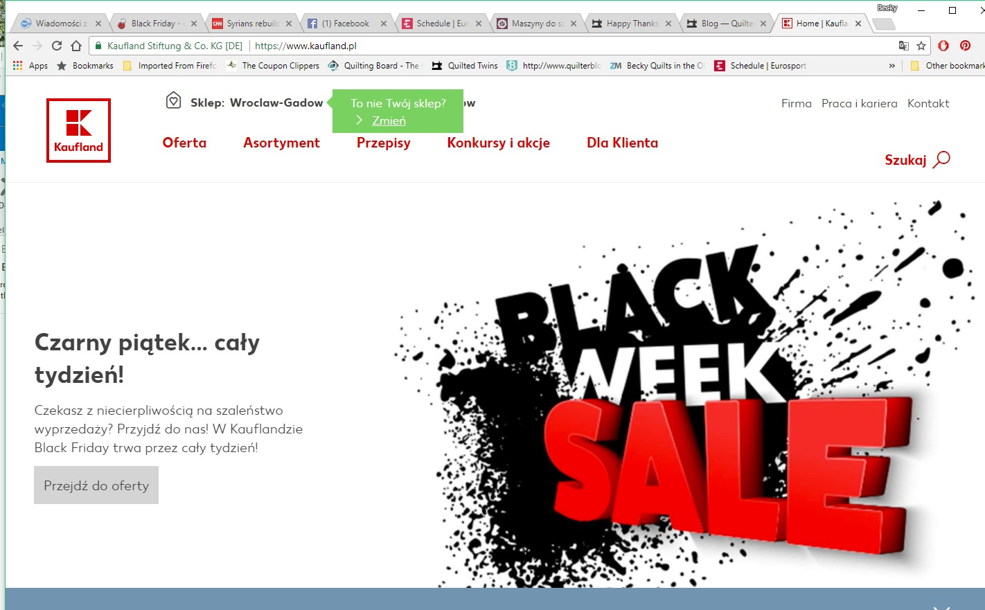 At least in this ad they translated it. Czarny Piatek means Black Friday - Literally it translates - Black Friday - the whole week.