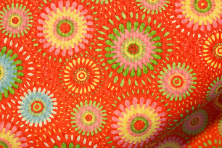 Orange Mixed Fabric