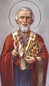 St. Nicholas was a real person who generously gave of his own wealth to the needy.