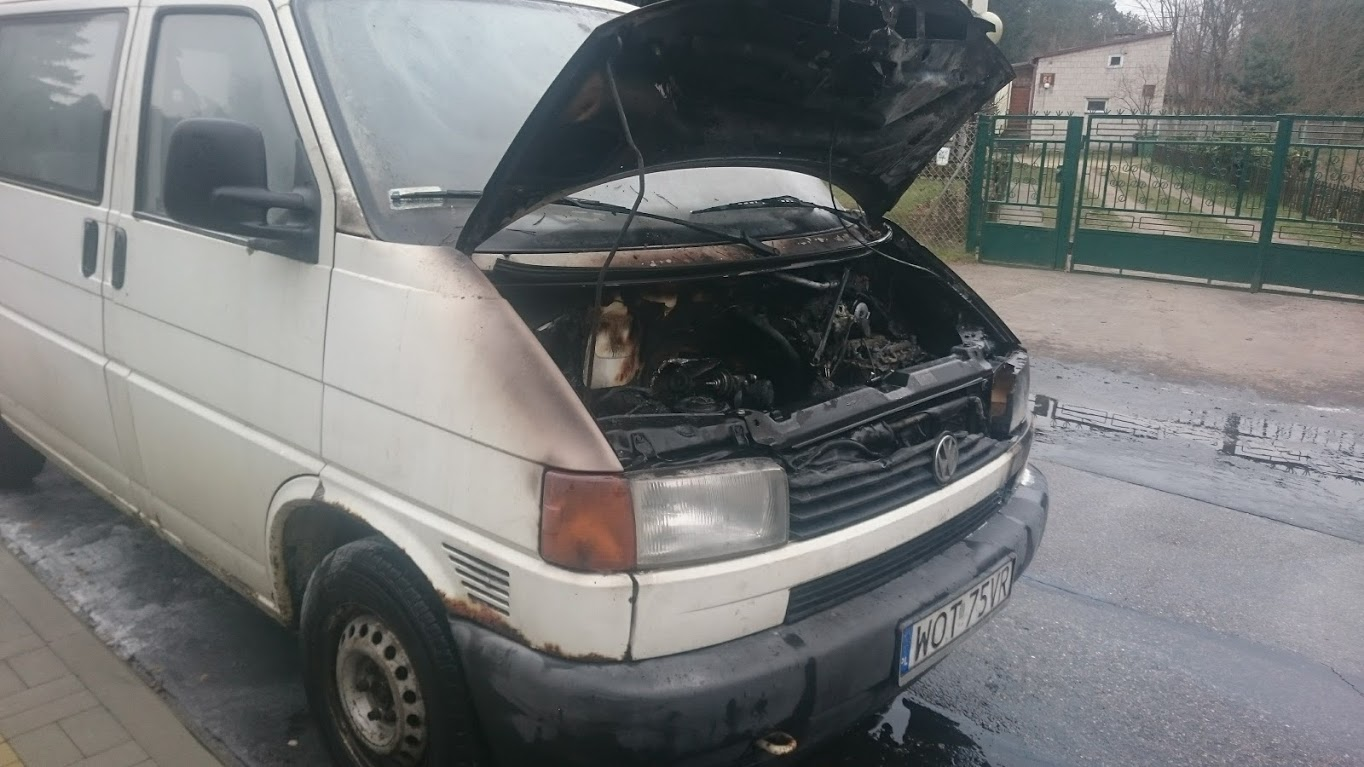 The story of the van burning is  her e.