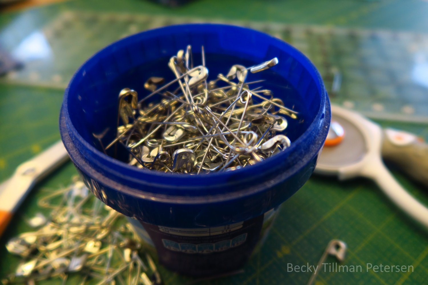 """I've got safety pins """"free"""" again."""